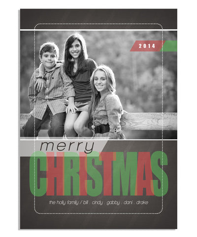Merry Stripes 5x7 Flat Card