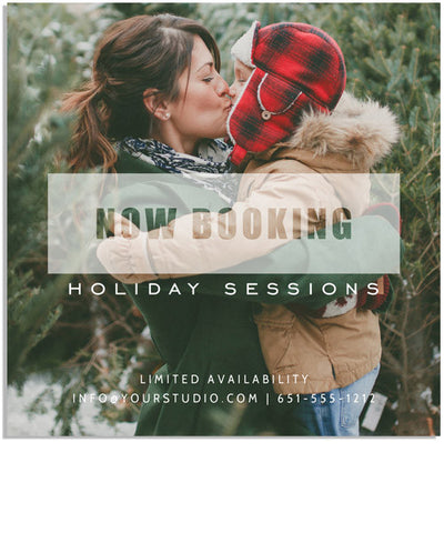 Minimalistic Holiday Marketing Board 5x5 Flat Card or Digital Ad