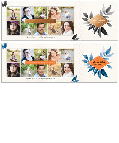 Modern Class 12x4 Perforated Flat Card