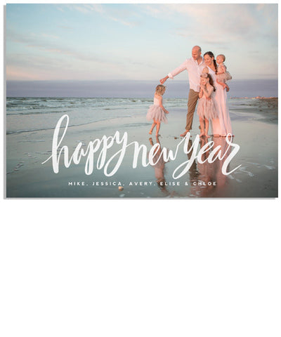 Modern Happy New Year 7x5 Flat Card