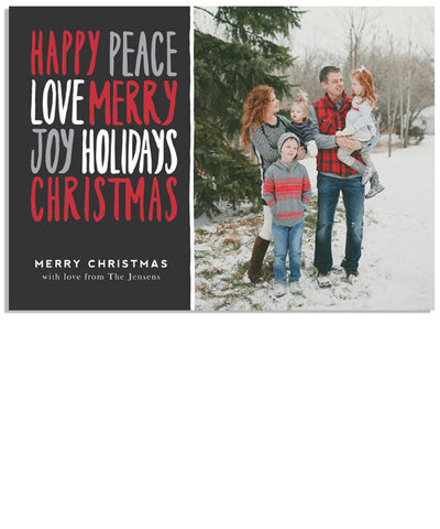 Modern and Merry Words 7x5 Flat Card
