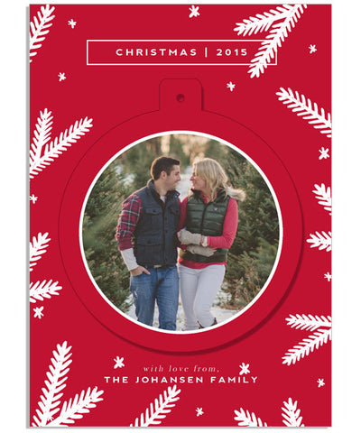 Modern Merry Christmas 5x7 Circle Luxe Pop Card