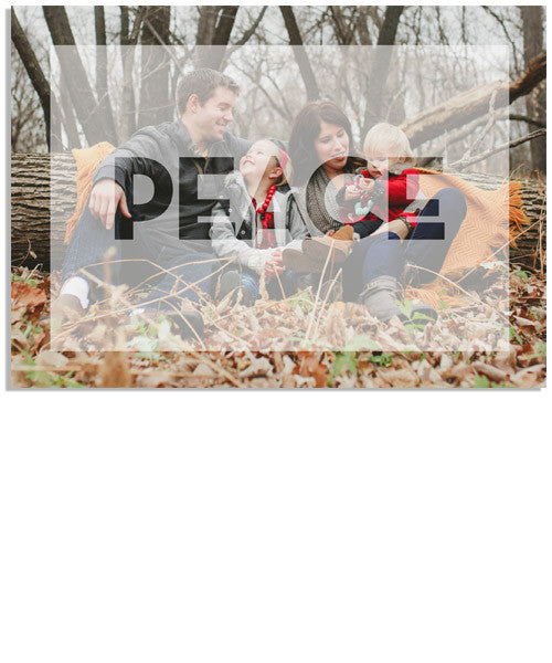 Modern Peace 7x5 Flat Card and Address Label