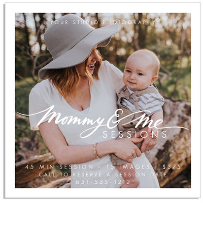 Mommy and Me 5x5 Flat Card or Digital Ad