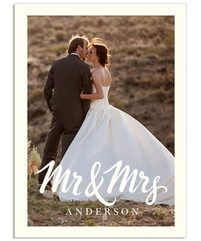 Mr. and Mrs. 2.5x3.5 Accordion Mini