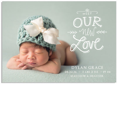 New Love 7x5 Flat Card