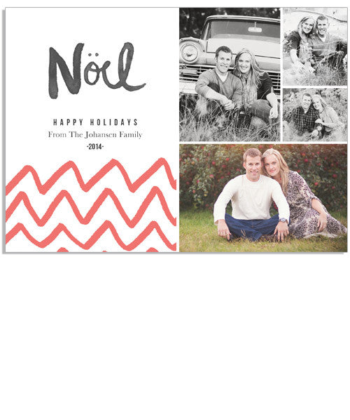 Noel 7x5 Flat Card and Address Label