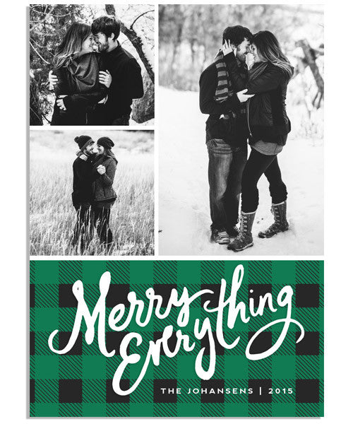 Northwoods Merry Everything 5x7 Flat Card and Address Label