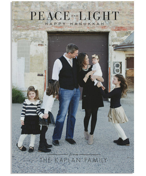 Peace and Light 5x7 Flat Card and Address Label