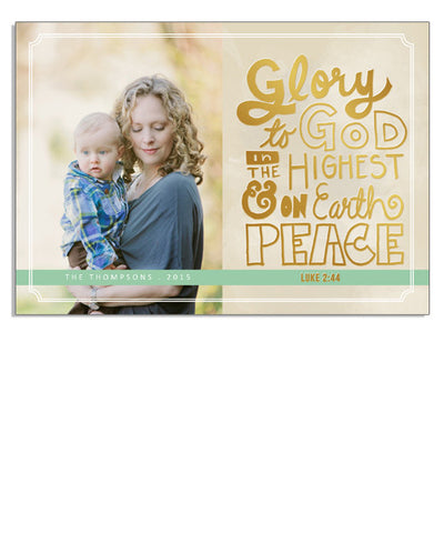 Peace on Earth 7x5 Luke Foil Press Card