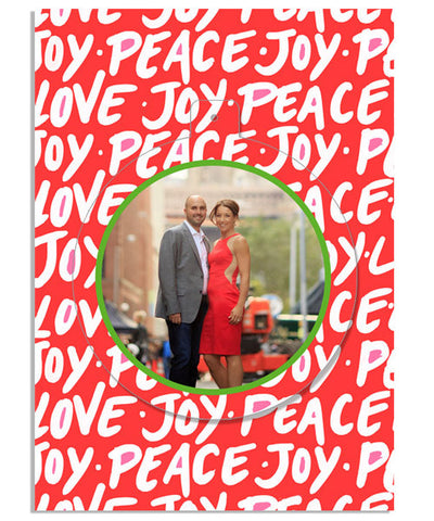 Peace, Joy, Love 5x7 Circle Luxe Pop Card