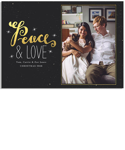 Peaceful Gold 7x5 Flat Card