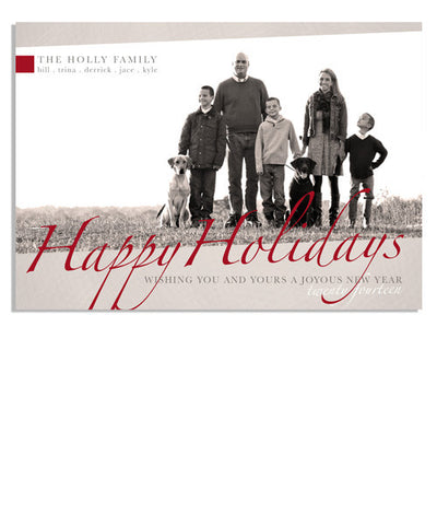 Red Holiday 7x5 Flat Card