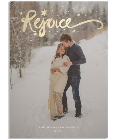 Rejoice Script 5x7 Flat Card and Address Label