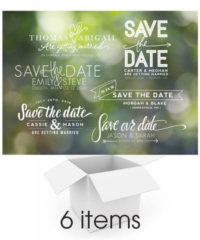 Hand Lettered Save the Date Overlays