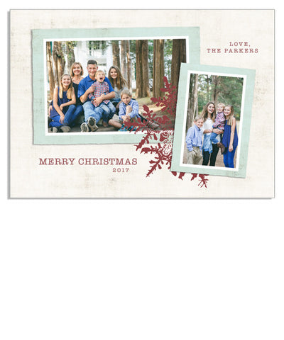 Scrappy Christmas 7x5 Flat Card