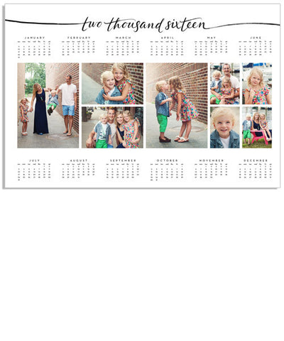Script Year at a Glance Calendar 18x12 Poster – 2016-2020