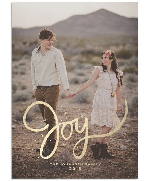 Scripted Joy 5x7 Flat Card and Address Label