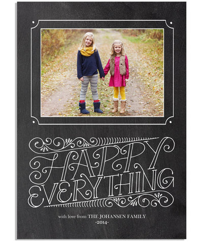 Scroll Happy Everything 5x7 Flat Card