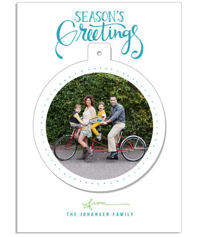 Season's Greetings 5x7 Circle Luxe Pop Card