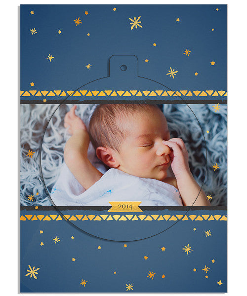 Silent Night 5x7 Circle Luxe Pop Card