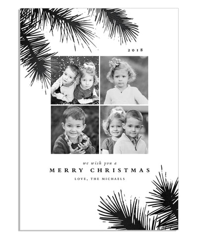 Simple Branches 5x7 Evergreen Needles Foil Press Card
