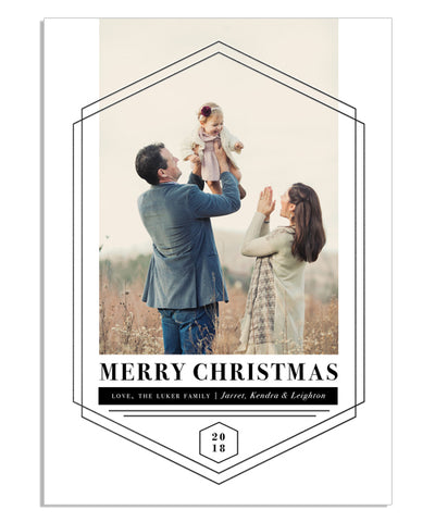 Simple Hexagon Holiday 5x7 Shining Hexagons Foil Press Card