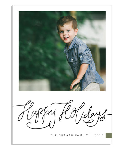 Simple Holidays 5x7 Holiday Scrawl Foil Press Card