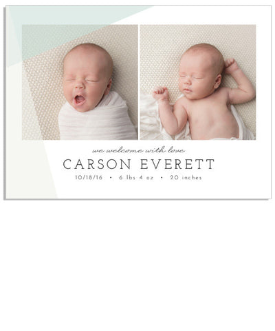 Simplicity Baby 5x7 White Slide Print Box and Acrylic USB