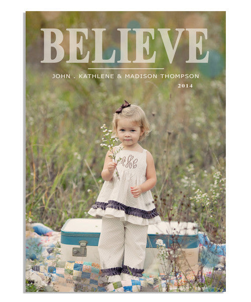 Simply Believe 5x7 Flat Card