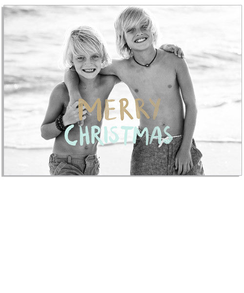 Simply Christmas 7x5 Wide Format Folded Card
