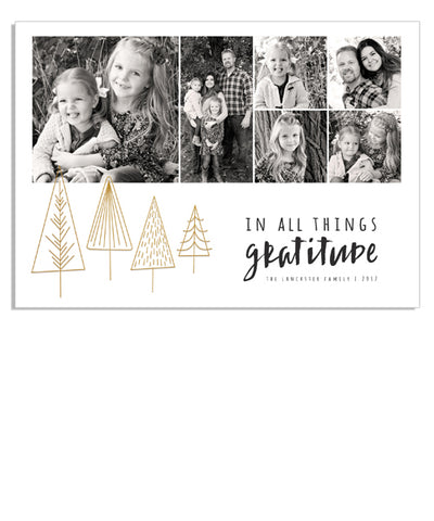 Simply Gratitude 7x5 Christmas Timber Foil Press Card