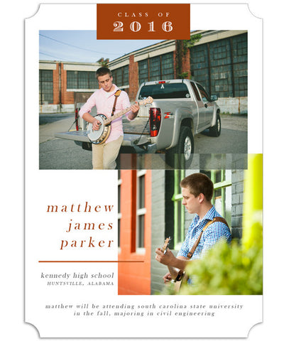 Southern Grad 5x7 Groove Luxe Card