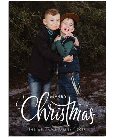Sparkling Christmas 5x7 Flat Card