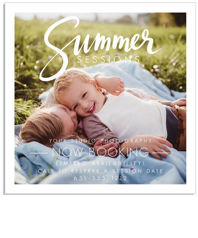Summer Session 5x5 Flat Card or Digital Ad