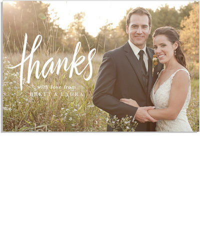 Thanks 6x4 Postcard