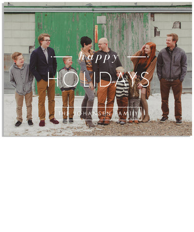 Timeless Holiday 7x5 Flat Card and Address Label