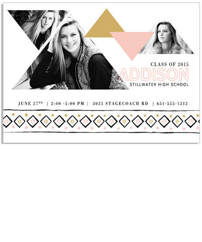 Tribal Chic 7x5 Flat Card