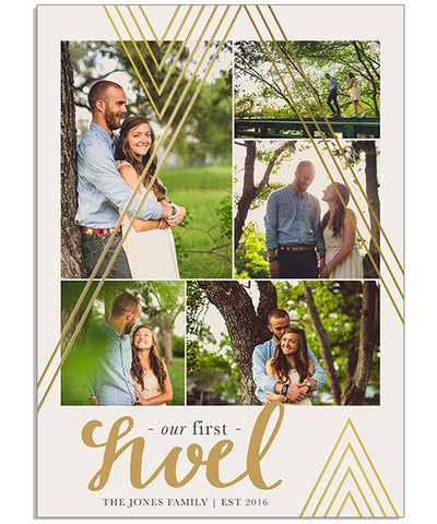 Vertical Noel 5x7 Echo Foil Press Card