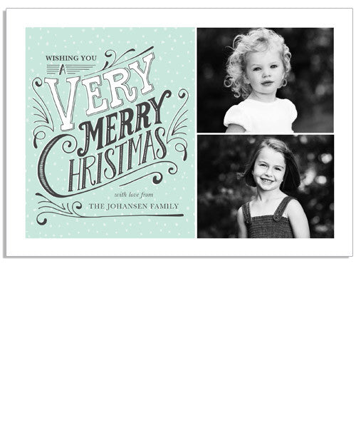Very Merry 7x5 Flat Card and Address Label