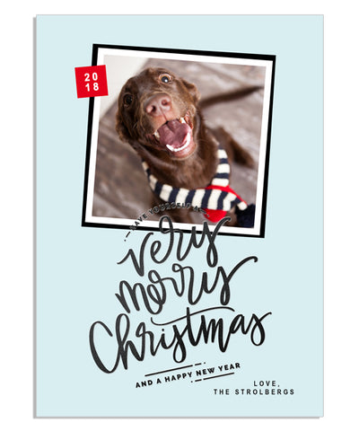 Very Merry Stripe 5x7 Very Merry Foil Press Card