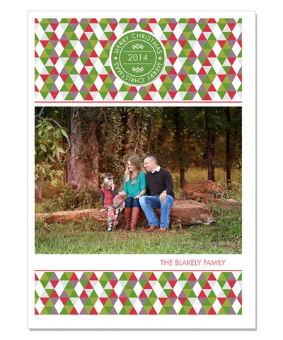Blakley Family 5x7 Flat Card and Envelope Liner
