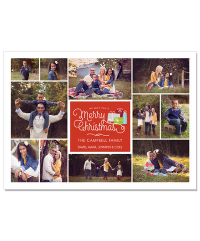Campbell Family 7x5 Flat Card and Envelope Liner