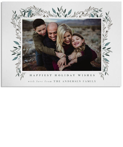Winter Frost Frame 7x5 Flat Card