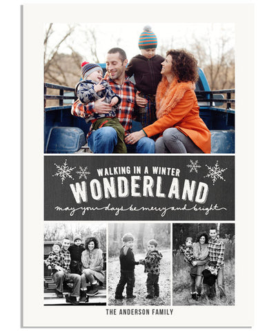 Winter Wonderland 5x7 Flat Card