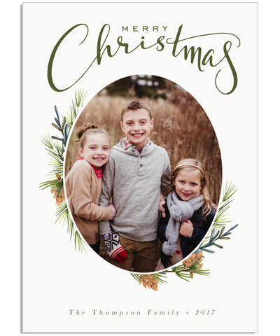 Winterberry Frame 5x7 Flat Card and Address Label