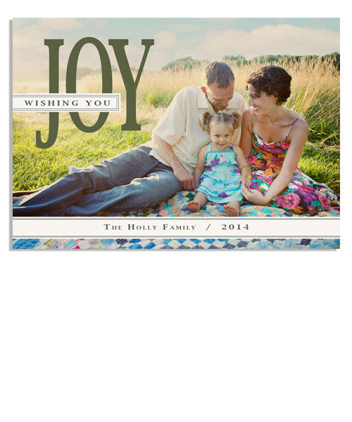 Wishing You Joy 5x7 Flat Card