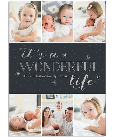 Wonderful Life 5x7 Flat Card