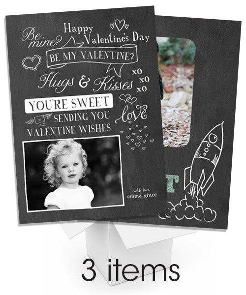 Blackboard Valentine Card Bundle
