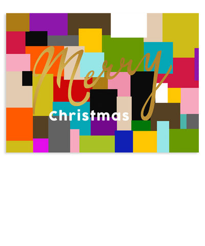 Color Block 7x5 Merry Foil Press Card and Envelope Liner